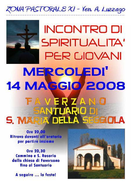 Incontro spiritualità giovani Seggiola 2008